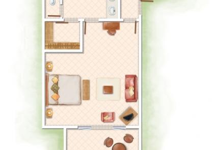 plán Junior Suite